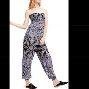 Free People Strapless Jumpsuit